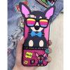 Perro de animal doméstico en la cubierta del teléfono celular de silicio de las gafas de sol para el iPhone