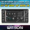 Mitubishi Outlander를 위한 GPS를 가진 Witson Car DVD Player 2013년 (W2-D8844Z) Steering Wheel Control Front DVR Capactive Screen