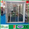 Двери алюминиевых раздвижных дверей французские с стеклом Pnoc0016sld