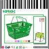 Panier à provisions en plastique de traitement de double de commerce de détail