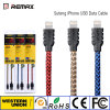 Cable de datos de carga rápido de Remax Suteng para el iPhone