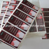 As vendas por atacado projetam a etiqueta impressa do adesivo da cor