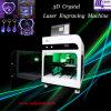 3D cadeau en cristal, machine de gravure intérieure de laser de produit de beauté