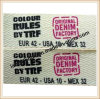 Fita Herringbone Oeko-Aprovada do algodão da impressão da etiqueta (CCJCW008N))