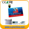 Mecanismo impulsor formado tarjeta de encargo del flash del USB del nombre comercial, mecanismo impulsor de la tarjeta de crédito de la pluma del metal delgado fino, palillo promocional de la memoria del USB de la tarjeta