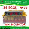 Capacité d'incubateur complètement automatique d'oeufs des bons prix de 36 oeufs pour des poulets