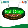 Diodo emissor de luz Hot Dogs Sign para Shop (HSH0161)