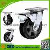 5 Inch-industrielles doppeltes Bremsen-Gummi-Fußrollen-Hochleistungsrad