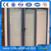 Окно алюминиевой рамки нестандартной конструкции высокого качества сползая стеклянное с москитом