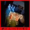 連続したクリスマスの装飾LEDのモチーフのトナカイのそり車ライト