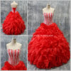 Red Rhinestones Robes de soirée Sweetheart Luxe Quinceanera Robes Z7013