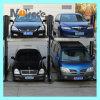 Strumentazione di due piani di parcheggio dell'automobile del garage dei due paletti