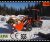 CE Marked Chine Machine Everun 1.2ton Mini Shovel Loader
