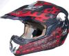 オートバイの部品のための高品質の赤いヘルメット