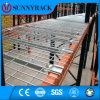 Decking Certificated ISO9001 do engranzamento de fio do armazenamento do armazém para a cremalheira