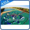 Parque de flutuação inflável da água, parque Inflatables da água do Aqua do lago, parque inflável da água das praias