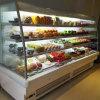 Réfrigérateur avant ouvert Chiiler de supermarché maintenant frais