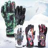 多彩な刺繍の屋外の防水Thinsulateの暖かいスキー手袋