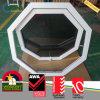 비닐 PVC 태풍 충격 어두운 담채 유리제 팔각형 차일 Windows