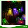 Luz solar de la cadena de Bell de la luz de la Navidad de 50 LED LED pequeña para el árbol de navidad