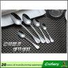 Ensemble de vaisselle plate d'acier inoxydable, couverts d'acier inoxydable de cuillères