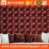 2016 papel de parede decorativo Rolls do PVC 3D do painel