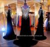 Soirée court robe de soirée par Hannah Bleu Tulle Argent Paillettes Gaine bal H27755