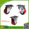 3 pouces à 5 pouces PU industriel Castor