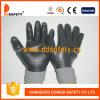 Серый нейлон с черным нитрилом Glove-Dnn442
