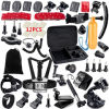 Gopro Accessories Set Helmet Chest Belt Head Mount Strap Tripod Monopod para va PRO Hero 4 3+ 2 1 Xiaomi Yi Sjcam Sj4000 GS13