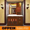 Шкафы ванной комнаты красного ольшаника Oppein классицистические китайские деревянные (OP15-053B)