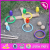 2015 cabritos Wooden Ring Toss Game Set Toy, Pin Quoits Game de Funny Five, New Design Wooden Intelligent Ring Toys para Children W01A073