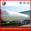 de 45cbm 2axle LPG do transporte do tanque reboque Semi