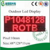 High Quality IP65 Case Red P10 Outdoor LED Screen