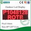 Pantalla al aire libre roja del caso P10 LED de la alta calidad IP65