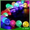 La pelouse solaire décorative allume la lumière solaire de chaîne de caractères de bulle colorée extérieure colorée de 50 DEL pour le mariage de fête de Noël