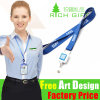 Glass Holder를 위한 유럽 Promotional Belt Eco-Friendly Satin Lanyard