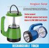 Linterna solar del uso de la fuente y de la emergencia de energía de batería recargable