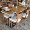 Tabela comercial e cadeira de madeira interiores do restaurante de Uptop ajustadas (SP-CS337)