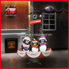 Pinguino sveglio Family Decoration Snowing Christmas Crafts per Holiday