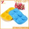 Molde de la torta del molde del chocolate de la bandeja/del silicón del cubo de hielo de la dimensión de una variable de la flor de Rose del silicón