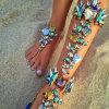 Диаманта яркия блеска Rhinestone сплава металла ювелирные изделия способа Anklet цветастого кристаллический