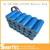 26650 блок батарей батареи 12V 20ah LiFePO4 силы для EV солнечного