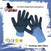 полиэфир 13G 3/4 отделок Sandy нитрила с перчаткой нитрила ровной Coated
