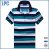 Mens-Form brennt kurze Hülse Striped Polo-Hemd ein