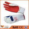 Katoenen van de Handschoenen van het Uiteinde van de Vinger van de Verkoop Pu van de Fabriek van China Rubber Met een laag bedekte Handschoenen