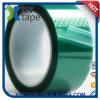 Nastro adesivo di verde della pellicola di poliestere con nastro adesivo dell'animale domestico del silicone