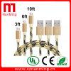 Samsungのための耐久の編みこみのマイクロUSBの充電器ケーブルのコード