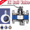 Chemical ANSI (FK)를 위한 플랜지 PFA Lined Ball Valve