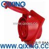 Soquete montado do En 60309 32A 5pins 400V painel vermelho